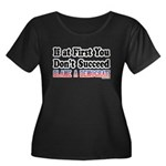 Blame a Democrat Women's Plus Size Scoop Neck Dark