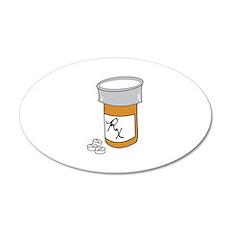 Pill Bottle Wall Decal
