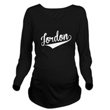 Jordon, Retro, Long Sleeve Maternity T-Shirt