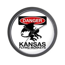 Danger: Flying Monkeys! Wall Clock