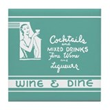 Wine & Dine -- Tile Coaster