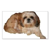 It's all about the Shih Tzu. Rectangle Decal