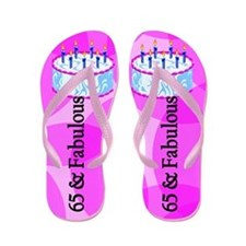 Stylish 65th Flip Flops