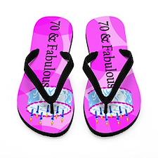 70th Party Girl Flip Flops