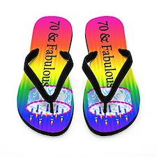 Festive 70th Flip Flops