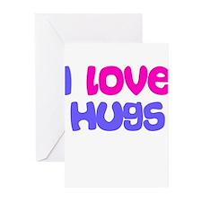 I LOVE HUGS Greeting Cards (Pk of 10)