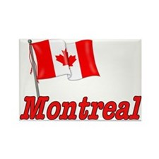 Canada Flag - Montreal Text Rectangle Magnet