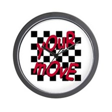 Your Move - Chess Board Wall Clock