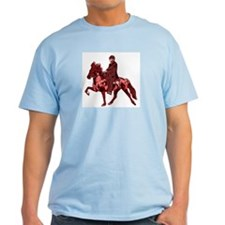 Ash Grey T-Shirt with tolting horses