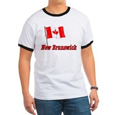 Canada Flag - New Brunswick Text T