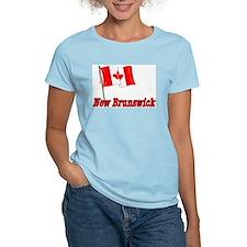 Canada Flag - New Brunswick Text T-Shirt