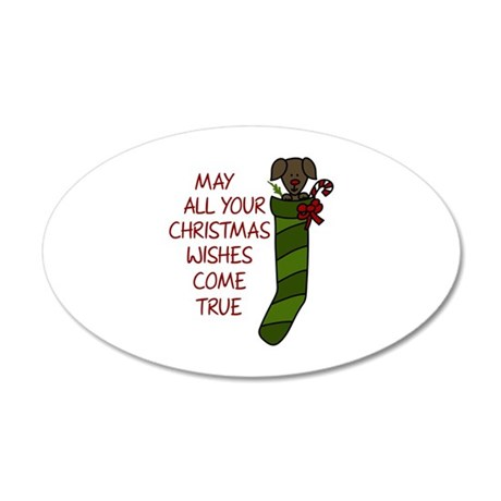 Puppy Christmas Wishes Wall Decal