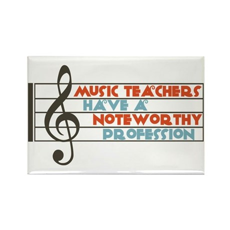 Music Teacher Rectangle Magnet