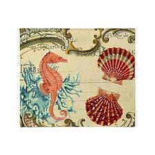 modern beach seashells seahorse coral paris art Th