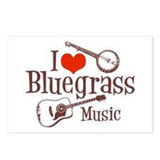 I Love Bluegrass Postcards (Package of 8)