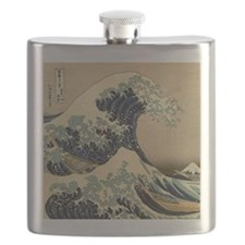 Japanese Waves Flask