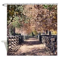 Farm Lane Shower Curtain