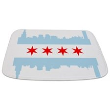 Chicago Flag Skyline Bathmat