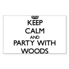 Keep calm and Party with Woods Decal