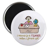 "Teacher When I Grow Up 2.25"" Magnet (10 pack)"