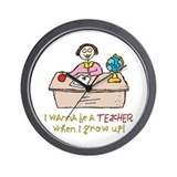 Teacher When I Grow Up Wall Clock