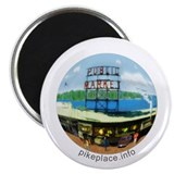Funny Pike place market seattle 2.25&quot; Magnet (10 pack)