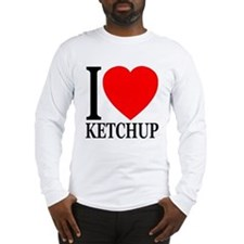 I Love Ketchup Classic Heart Long Sleeve T-Shirt