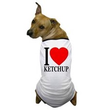 I Love Ketchup Classic Heart Dog T-Shirt