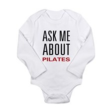 Ask Me Pilates Long Sleeve Infant Bodysuit
