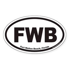 Fort Walton Beach FWB Euro Oval Decal