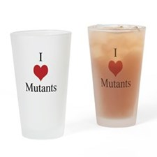 I Love Mutants Drinking Glass
