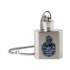 Medieval Bavarian Coat of Arms Cres Flask Necklace