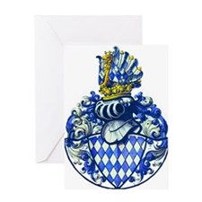 Medieval Bavarian Coat of Arms Crest Greeting Card