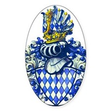 Medieval Bavarian Coat of Arms Cres Decal