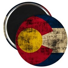Grunge Colorado Flag Magnets
