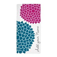 Add Name Mod Flowers Beach Towel