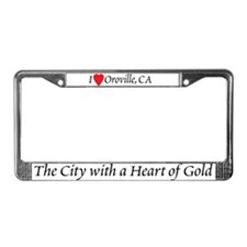 I Love Oroville License Plate Frame