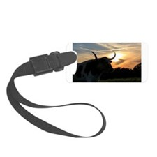 Longhorn Sunset Luggage Tag