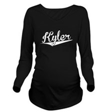 Kyler, Retro, Long Sleeve Maternity T-Shirt