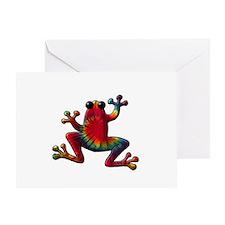 Tie Dye Frog Greeting Card