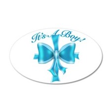 It's A Boy! Blue Silk Bow Wall Decal