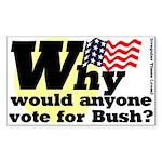 Why vote for Bush Bumper Sticker