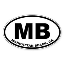 MB Manhattan Beach Decal