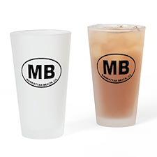 MB Manhattan Beach Drinking Glass