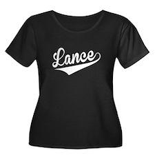 Lance, Retro, Plus Size T-Shirt