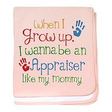 Appraiser Like Mommy baby blanket