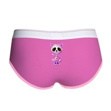 Purple Zombie Sugar Skull Kitten Women's Boy Brief