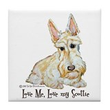 Wheaten Scottish Terrier Tile Coaster