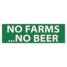 No Farms Beer (bumper) Bumper Stickers