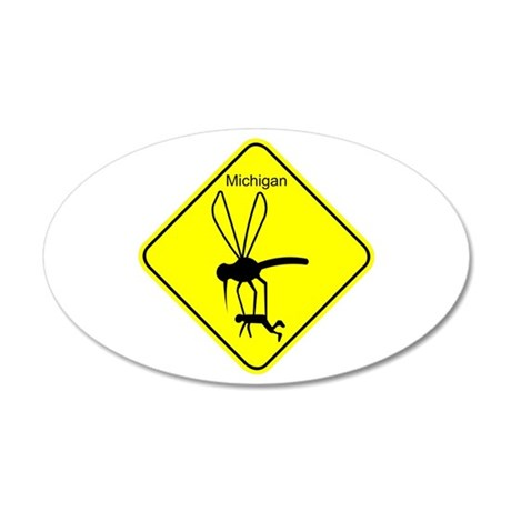 Mich State Bird Mosquito 20x12 Oval Wall Decal